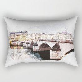 Paris Bridge Paint Rectangular Pillow