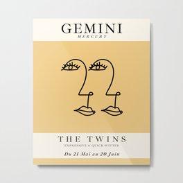 Minimalist Gemini Metal Print