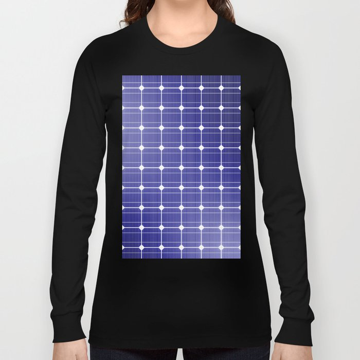 In charge / 3D render of solar panel texture Long Sleeve T-shirt