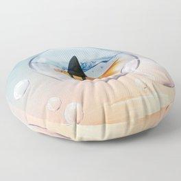 Shark Fin Goldfish in a Bubble Floor Pillow