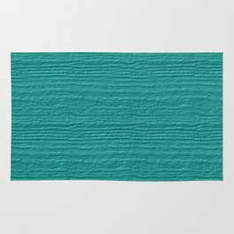 Turquoise Wood Grain Color Accent Rug