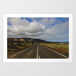 Route - Lanzarote Art Print