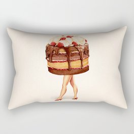 Cake Girl - Chocolate Raspberry Rectangular Pillow