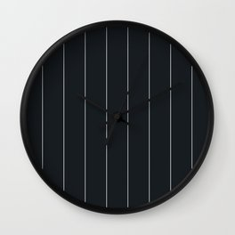 White and black pinstripes Wall Clock