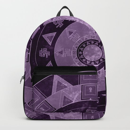 ethnic circle with watercolors Backpack