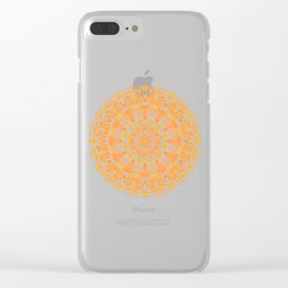 Mandala 12 / 1 eden spirit orange yellow pink Carnelian Clear iPhone Case