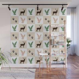 Rustic Animal Pattern Wall Mural