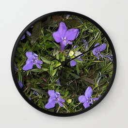 Purpley Poster Wall Clock