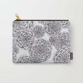 """flowers or """"pinecones from top"""" hand drawn Carry-All Pouch"""