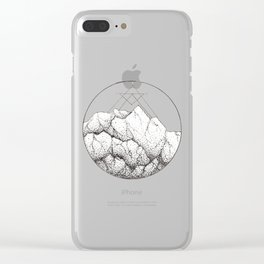 Minimalist Mountain with Snow Clear iPhone Case