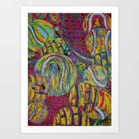 tennis Art Prints featuring Tennis by Jennifer D. S. Stedman