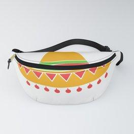 Mens Mexican Fiesta Sombrero F Nacho Average Dad T-Shirt Fanny Pack