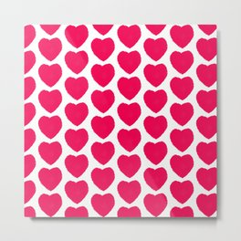 naive hearts pattern Metal Print