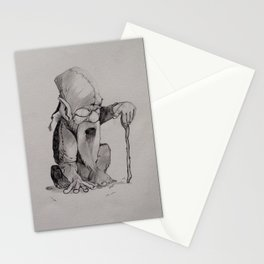 The wise dwarf Stationery Cards