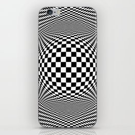Optical Illusion Checkers Chequeres  iPhone Skin