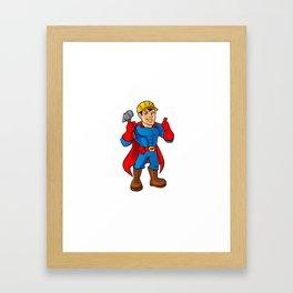 Superhero handyman guy. Framed Art Print