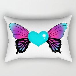 Painted Soul - Butterfly Heart Rectangular Pillow