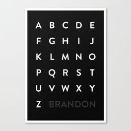 Brandon Grotesque Canvas Print