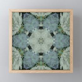 Pastel Blue and White Flower Design Framed Mini Art Print