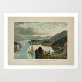 West Point, from above Washington Valley (1834) Art Print