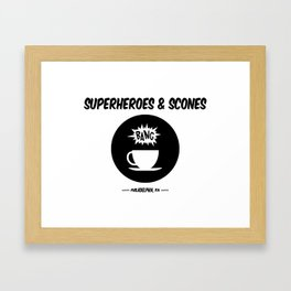 Superheroes and Scones Framed Art Print