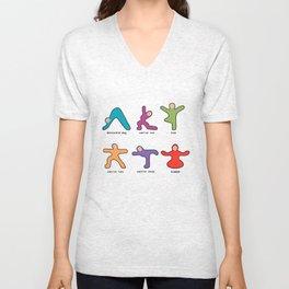 Yoga basics Unisex V-Neck