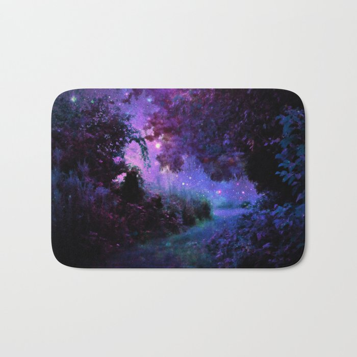 Fantasy Path Purple Bath Mat