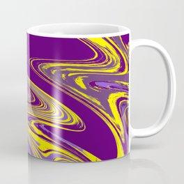 Purple and Yellow Fluid Painting Coffee Mug