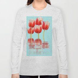 Spring Tulip Flowers Long Sleeve T-shirt