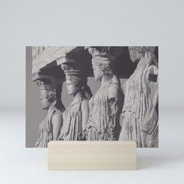 Caryatids of the Erechtheion, ancient greek, Athens agora, Erectheum, Greece photo,  Acropolis of Athens Mini Art Print