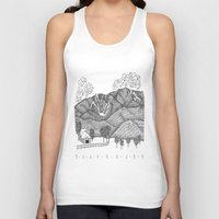vermont Tank Tops featuring Zentangle Sugarbush, Vermont by Vermont Greetings