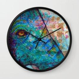 Peek-a-Blue Wall Clock