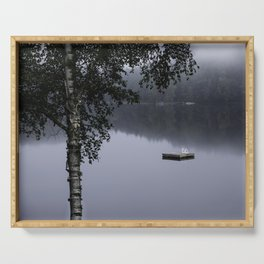 cottage life by the lake Serving Tray