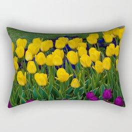 Rows of Yellow Rectangular Pillow