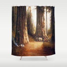 Giant Sequoia Grove by Thomas Hill Shower Curtain