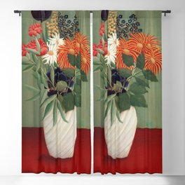 Henri Rousseau - Bouquet of Flowers with China Asters and Tokyos Blackout Curtain