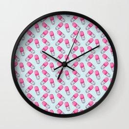 Cat pills Wall Clock