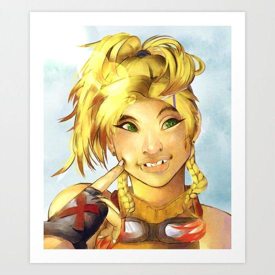 Rikku FFX Art Print