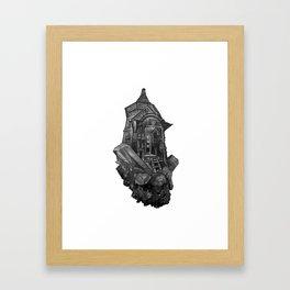 Selenite Lighthouse Framed Art Print