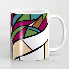 Stained Glass Tree Design - Burgundy Coffee Mug