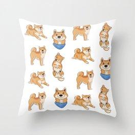 shibas Throw Pillow