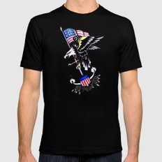 American Traditional MEDIUM Black Mens Fitted Tee