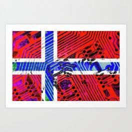 circuit board Norway (Flag) Art Print