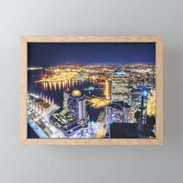 Voyeuristic 1719 Vancouver Cityscape Space Craft - Waterfront Convention Center Gastown BC Canada Framed Mini Art Print