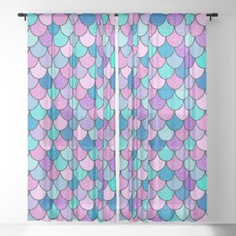Sparkle Scales Sheer Curtain