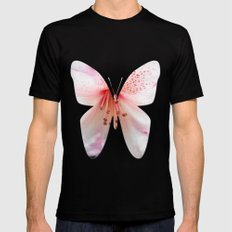 Light pink azalea or rhododendron flower. floral botanical garden photography. MEDIUM Black Mens Fitted Tee