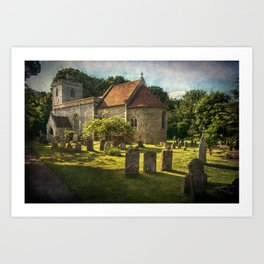 St Peter and St Paul Checkendon Art Print