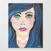 indigo Canvas Prints featuring Indigo by Sartoris ART