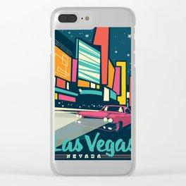 Las vegas vintage mode Clear iPhone Case