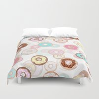 donuts Duvet Covers featuring Donuts by JudithzzYuko